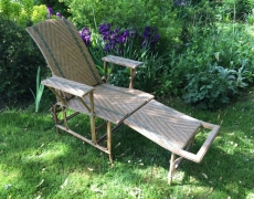 Chaise longue in vimini cod 250