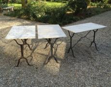 Tre tavoli ferro e marmo
